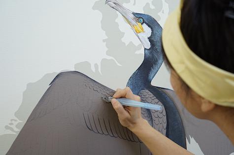 Cormorant in progress_casartblog