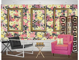 Casart Coverings Flower Power removable wallpaper Mood Board